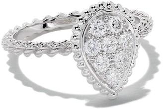 Boucheron 18kt white gold Diamond Serpent Boheme S motif ring