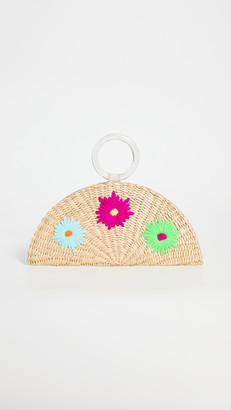Poolside Embroidered Croissant Bag