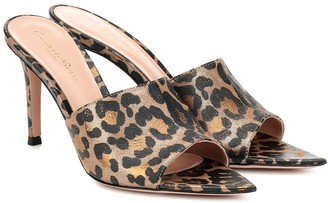 Gianvito Rossi Alise leopard-print leather sandals
