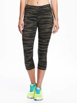 Old Navy Go-Dry Mid-Rise Printed Compression Crop for Women