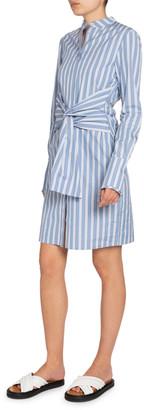 Victoria Victoria Beckham Striped Tie-Waist Shirtdress