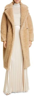 Max Mara Park Metallic Faux Fur Teddy Bear Coat