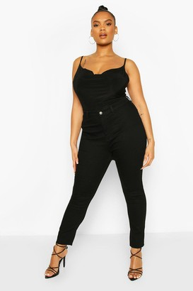 boohoo Plus High Rise Stretch Skinny Jeans