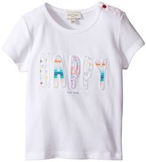 Paul Smith Short Sleeve White Happy Tee Girl's T Shirt