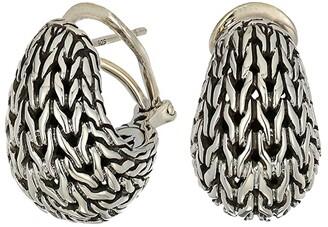 John Hardy Classic Chain Graduated Buddha Belly Earrings (Silver) Earring