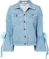Fendi bell-sleeved denim jacket