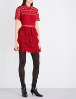 Self-Portrait Star guipure lace panelled mini dress