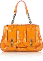 Patent leather B bag
