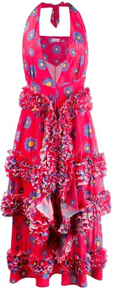 Molly Goddard Daisy print ruffle dress