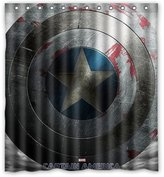 "Shower Curtains Fashionable Bathroom Collection-Custom Captain America Custom Shower Curtain Bath Decor Curtain 66 "" X 72 """
