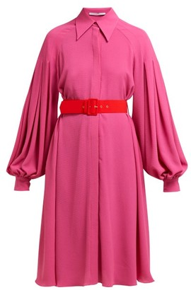 Emilia Wickstead Clarisse Crepe Balloon-sleeve Dress - Womens - Pink