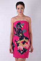 Strapless Rosette Embellished Dress