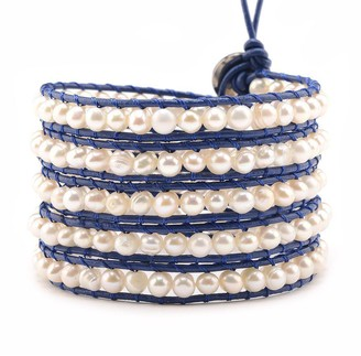 Victoria Emerson Freshwater Pearls on Navy
