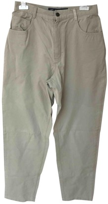 Burberry Beige Cotton Trousers