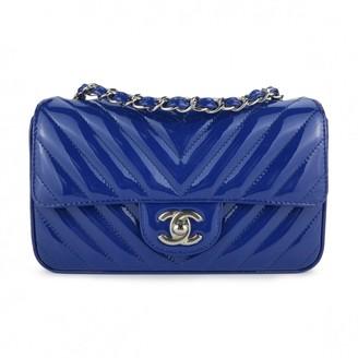 Chanel Timeless/Classique Blue Patent leather Handbags