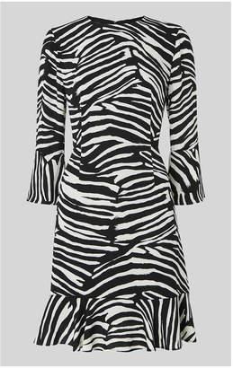Whistles Zebra Print Flippy Dress