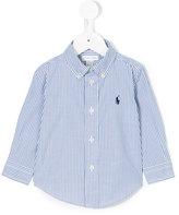 Ralph Lauren striped long-sleeved shirt - kids - Cotton - 9 mth