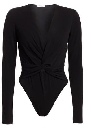 Amen Twist-Front Jersey Bodysuit