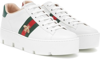 Gucci Ace leather platform sneakers
