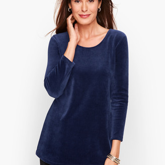 Talbots Luxe Velour Twist Back Top