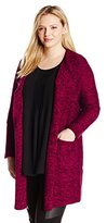 Lucky Brand Women's Plus-Size Marled Cardigan