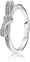 Pandora Ring - Sterling Silver & Cubic Zirconia Sparkling Bow