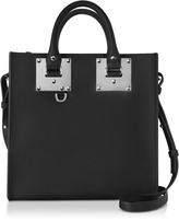 Sophie Hulme Black Saddle Leather Square Albion Tote