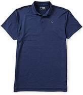 Callaway Golf Big & Tall Opti-Stretch Short-Sleeve Heathered Polo Shirt