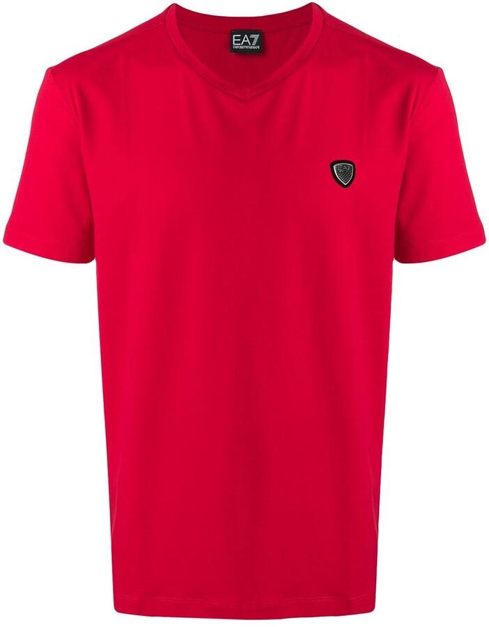 78ae17a540 Ea7 logo appliqué T-shirt