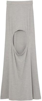 Burberry Long Step-Through Skirt
