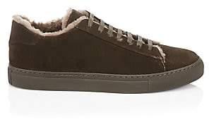 Saks Fifth Avenue Suede & Shearling Sneakers