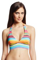 Anne Cole Women's Painterly-Stripe Marilyn Halter Bikini Top