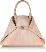 Akris Ai Small Pale Rose Horsehair Tote Bag
