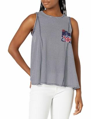 Self Esteem Women's Benson Navy Swing Top with Front Pocket