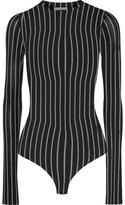 Protagonist Striped Stretch-jersey Bodysuit - Black