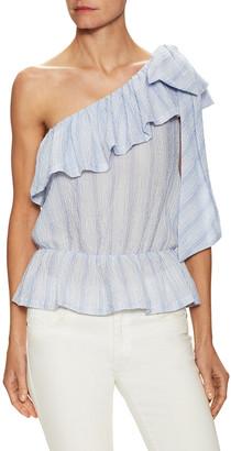 Jill Stuart Aurore One-Shoulder Blouse