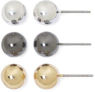 Mixit Sensitive Ears 3-pr. Ball Stud Earring Set