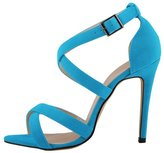 Azbro Elegant Summer Ankle Strappy Stiletto High Heels For Woman