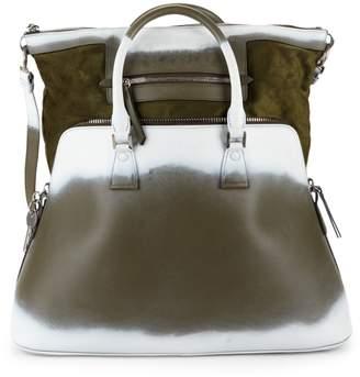 Maison Margiela Leather & Suede Satchel