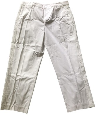 N°21 N21 White Cotton Trousers for Women