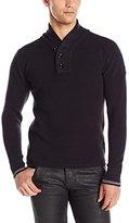 G Star Men's Dadin Shawl-Collar Knit Long-Sleeve Sweater