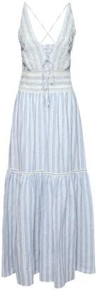 Ermanno Scervino Striped Linen Dress W/ Open Back