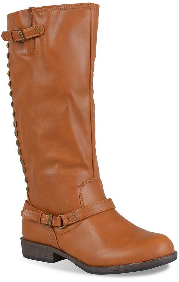 Journee Collection Nemo Studded Tall Boots - Women