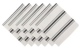 Design Imports Zig Dobby Stripe Napkin Set of 6