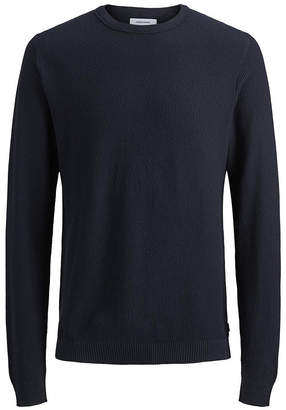 Jack and Jones Men Cotton Structured Crew Neck Long Sleeve Sweater