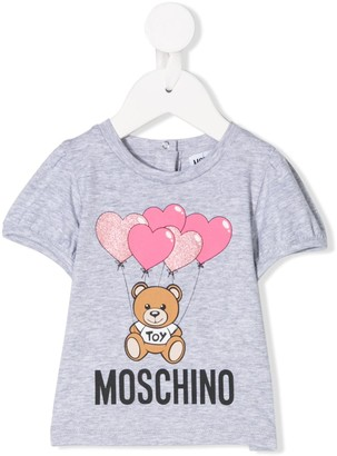 MOSCHINO BAMBINO heart balloon print T-shirt