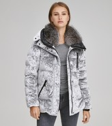 Andrew Marc Final Sale VARA CRUSHED VELVET DOWN JACKET