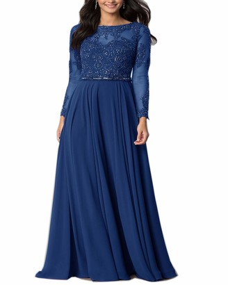 Roiii Elegant Women Chiffon Lace Crochect Celeb Summer Evening Cocktail Party Wedding Maxi Long Dress Plus Size 8-24 (22