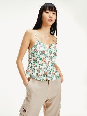 Tommy Hilfiger Floral Print Sleeveless Blouse