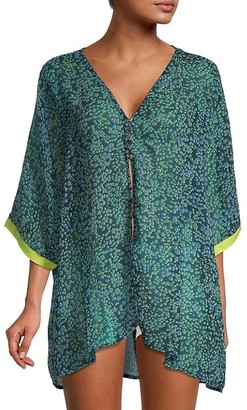 Free People Printed High-Low Coverup